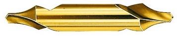 Broca centrar DIN333 HSS R 60º B TiN