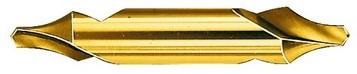 Zentratzeko DIN333 HSS R 60º B TiN barautsa